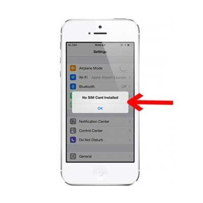 Sửa iPhone 5, 5S không nhận sim