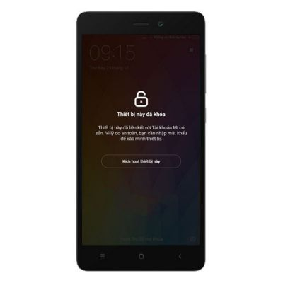 Phá - Bẻ khóa - Xóa tài khoản Mi Cloud Xiaomi Redmi 3S