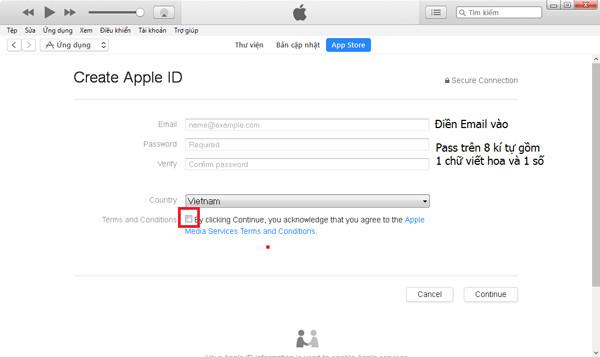 cách tạo ID Apple nhanh chóng và miễn phí - bước 4