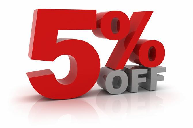 Giảm thêm 5% khi lịch sửa chữa trước