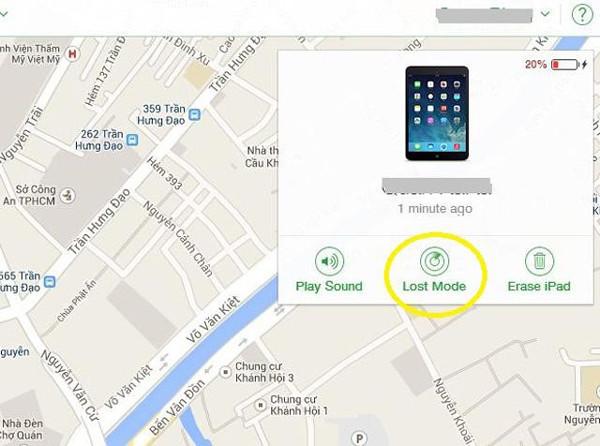 Cách vô hiệu hóa điện thoại iPhone khi bị mất