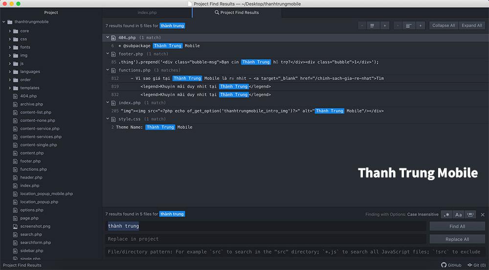 Cách tìm kiếm 1 đoạn text trong nhiều file trong nhiều thư mục trên MacOS