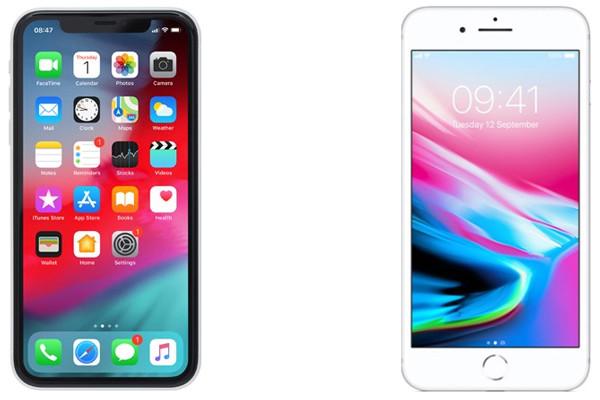 So sánh màn hình iPhone Xr và iPhone 8 Plus
