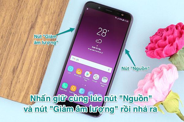 Cách chụp màn hình Samsung J6 Plus