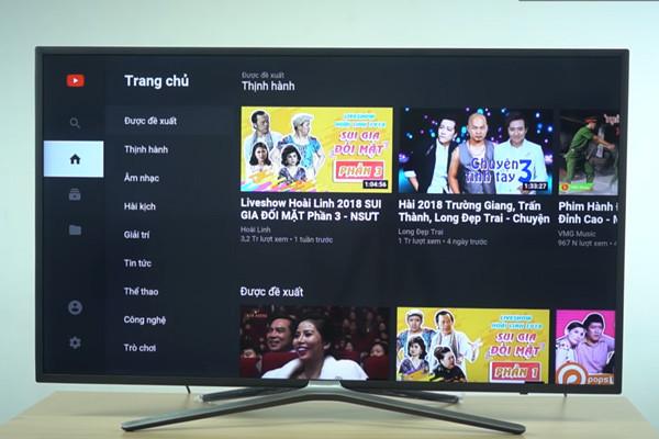 cách kết nối điện thoại iPhone với tivi Asanzo qua Youtube - 1