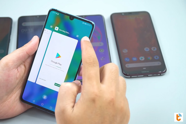 chia đôi màn hình chính Android 9 Huawei - bước 2