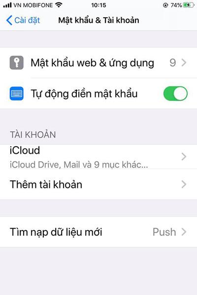 đồng bộ danh bạ iPhone lên gmail bước 3