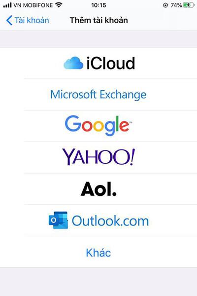 đồng bộ danh bạ iPhone lên gmail - bước 4