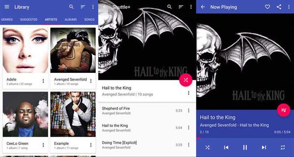 phần mềm nghe nhạc Shuttle music player điện thoại Android