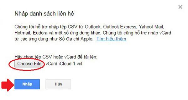 sao lưu danh bạ  từ iPhone lên gmail bước 10