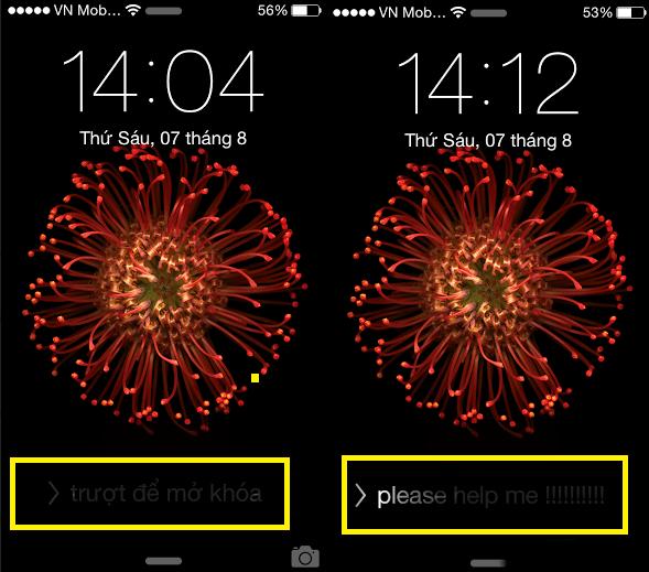 Cách thay đổi chữ trượt để mở khóa trên Iphone cực hay