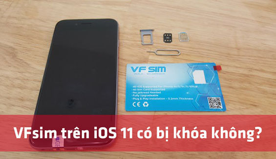 Cách fix lỗi sim ghép bị mất dịch vụ trên iPhone iOS 11