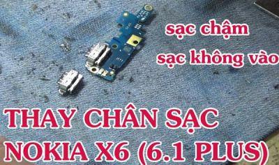 Thay chân sạc Nokia X6 (Nokia 6.1 Plus)
