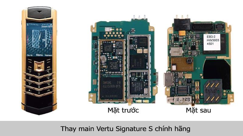Thay main Vertu Signature S chính hãng tại TPHCM