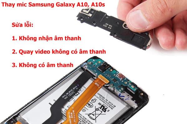 Các lỗi thường gặp với mic Samsung Galaxy A10