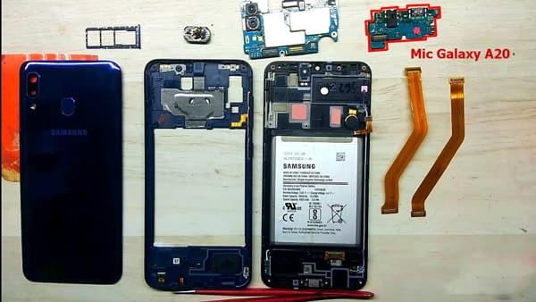Bo mạch chứa mic Samsung Galaxy A20, A20s