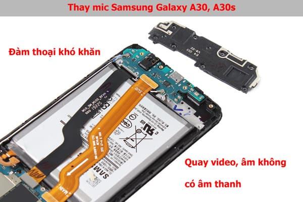 Mic Samsung Galaxy A30, A30s bị hư hỏng khiến đàm thoại khó khăn