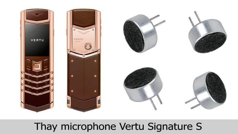 Thay mic Vertu Signature chính hãng, uy tín