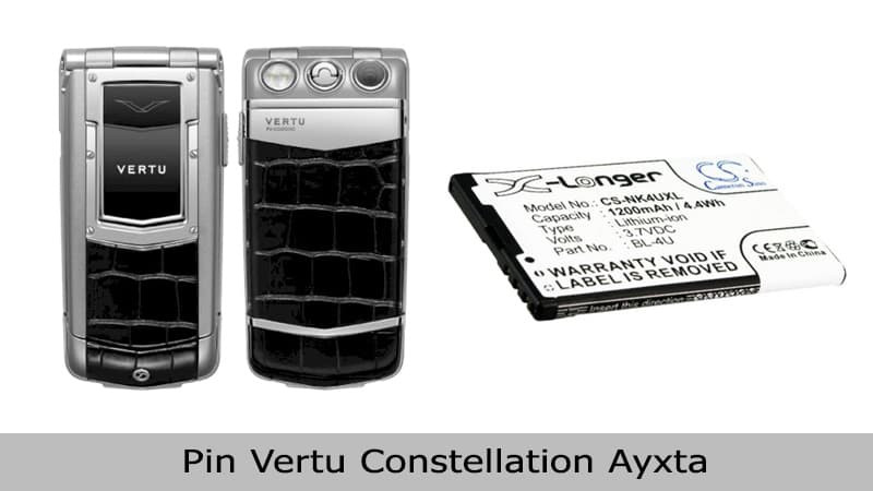 Thay pin Vertu Constellation Ayxta tại TPHCM
