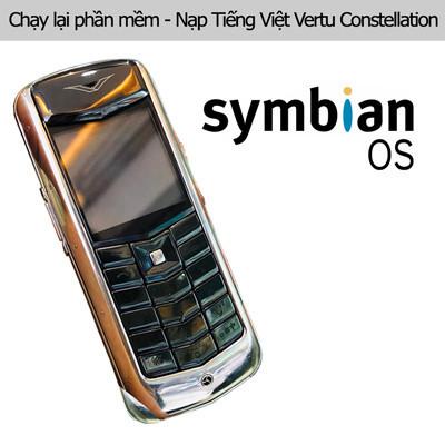 Chạy lại phần mềm, nạp Tiếng Việt Vertu Constellation