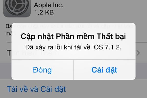 Cách khắc phục iPhone 5S không cập nhật được phần mềm