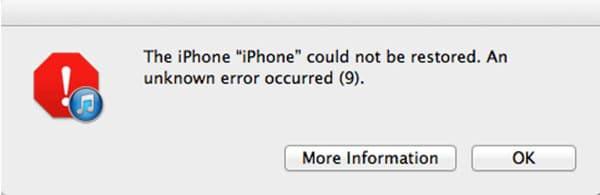 Cách khắc phục iPhone 5S lỗi 9 khi restore