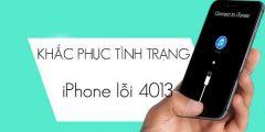 Cách khắc phục khi iPhone lỗi 4013