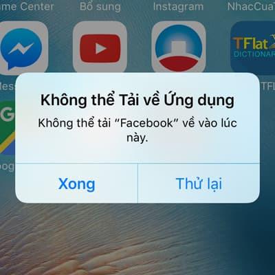 Thông báo không thể tải về ứng dụng trên iPhone