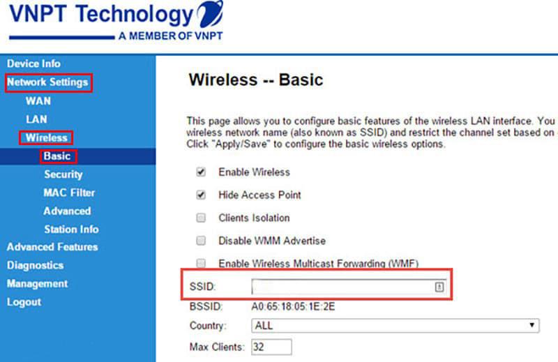 Cách đổi mật khẩu Wifi VNPT | Hình 2
