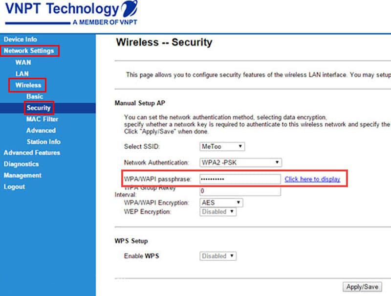 Cách đổi mật khẩu Wifi VNPT | Hình 3