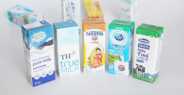 Top 5 sữa tươi thanh trùng tốt nhất hiện nay