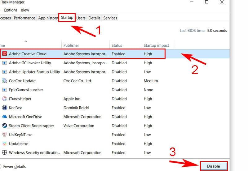 Tắt chương trình khởi động cùng hệ thống Windows 10 | Hình 4