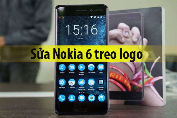 Sửa lỗi Nokia 6.1 Plus treo logo, treo máy