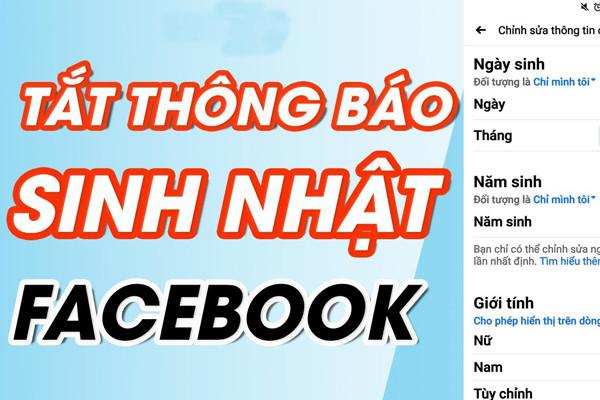 Hướng dẫn cách tắt thông báo sinh nhật trên Facebook