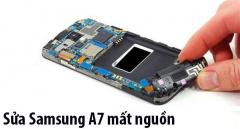 Sửa Samsung A7 mất nguồn, hao nguồn