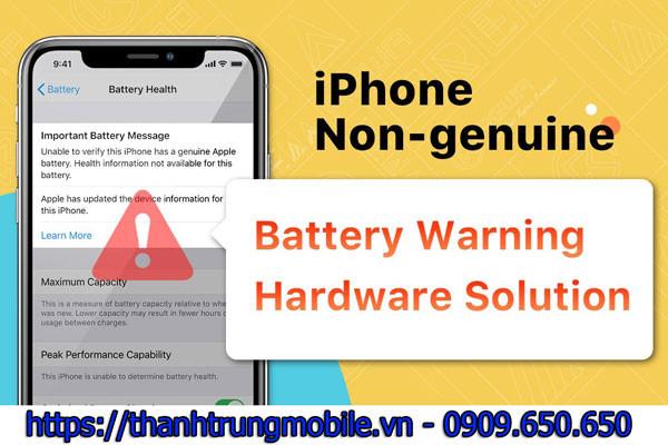 Nguyên nhân và cách khắc phục khi thay pin iPhone mới báo bảo trì