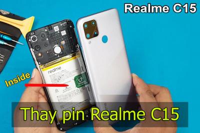Thay pin Realme C15