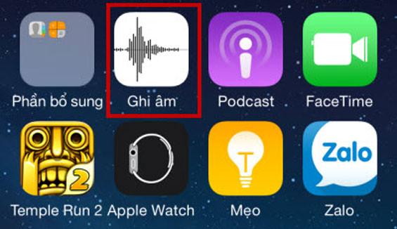 Hướng dẫn cách bật ghi âm trên iPhone