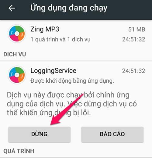 tắt ứng dụng chay ngầm trên Android 6.0 trở lên - bước 5