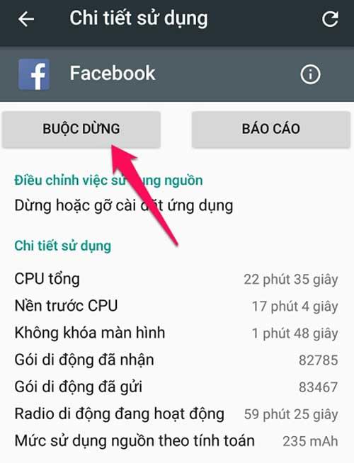 tắt ứng dụng chay ngầm trên Android 6.0 trở lên - bước 7