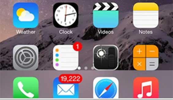 Khắc phục lỗi mất hết biểu tượng trên màn hình iPhone