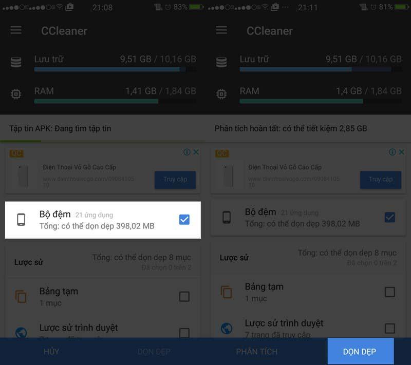 tăng bộ nhớ trong điện thoại Android - cách 3