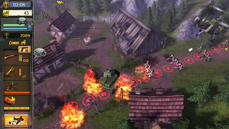 game chiến thuật Hills of Glory 3D cho Android