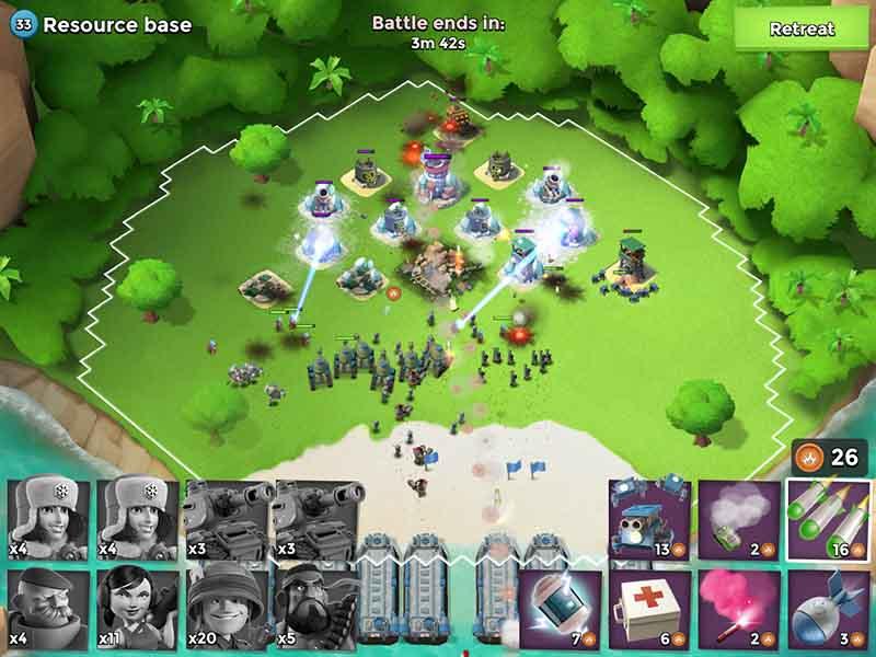 game chiến thuật Boom Beach cho Android