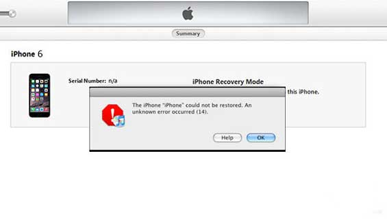 Hướng dẫn chi tiết cách sửa lỗi 14 khi restore iPhone