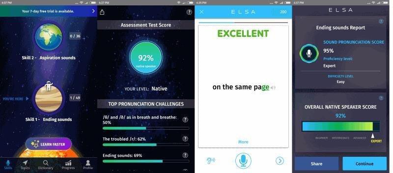 phần mềm luyện nói tiếng anh ELSA Speak